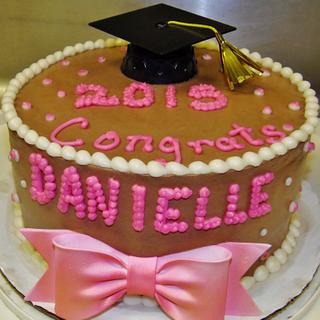 chocolate buttercream graduation cake