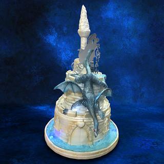 Dragon Fairy Tale Wedding Cake - Cake by MsTreatz