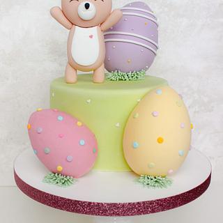 Modern Rabbit Fondant Cake