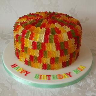 haribo teddy bear cake