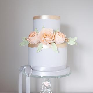Delicate celebration cake