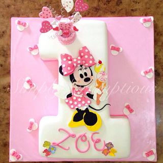 Minnie Mouse No 1 Cake