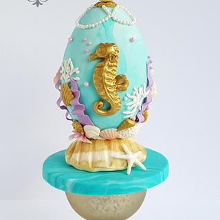 Under The Sea - Easter Faberge egg challenge by Bakerswood