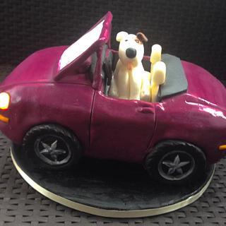 Cabrio cake with LED lights
