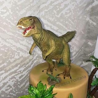 T-Rex cake - Cake by VanessaFontana