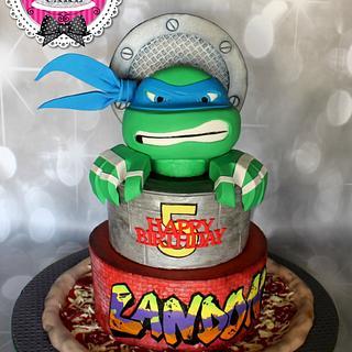 Teenage mutant ninja turtle cake!