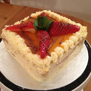 My Mango mousse Cake! - Cake by Cakesatibapa