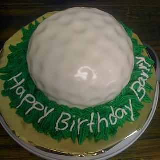 Golf Ball cake - Cake by Dana