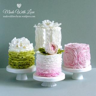 Ruffle Cakes - Cake by Pamela McCaffrey