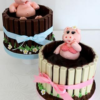 Pigs in mud cakes