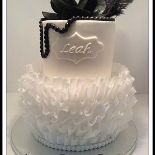 Roaring 20's Classy Ruffles - Cake by Amy'z Cakez & Sweetz