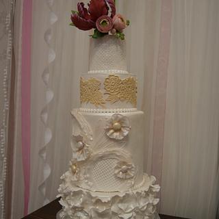 Wedding Cake II - Cake by canelaencasamadrid