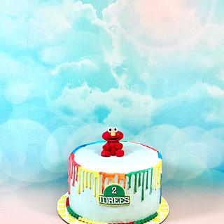 Elmo's drip cake