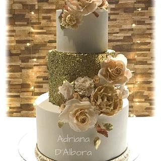 GOlden cake - Cake by Adriana D'Albora