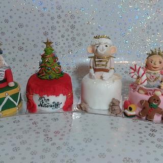 The Nutcracker Ballet mini cakes