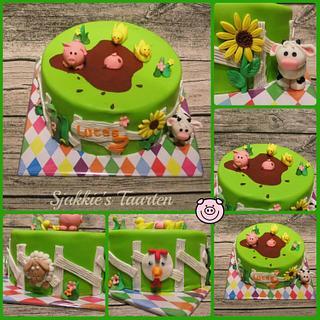 Little farm animals.. - Cake by Sjakkie's Taarten