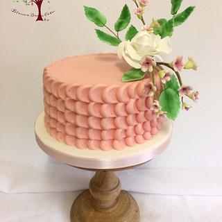 Pink buttercream petals