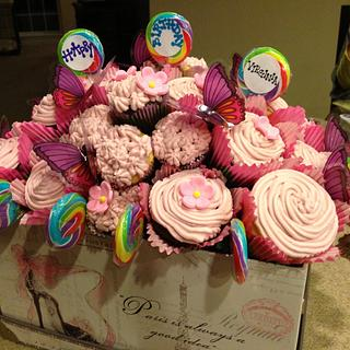 Cupcake birthday bouquet  - Cake by Sugared Tiers