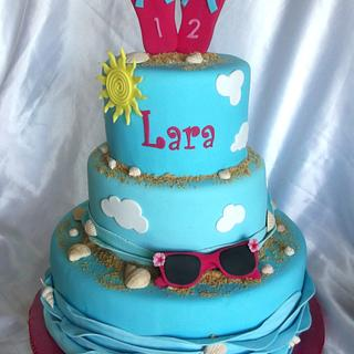 Summer themed cake - Cake by CakesByPaula