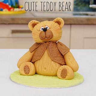 Teddy Bear Cake Topper or Decoration - Cake by Paul Bradford Sugarcraft School
