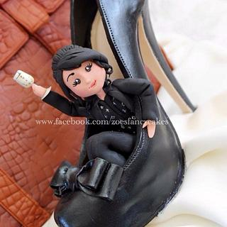 shoe and hand bag cake