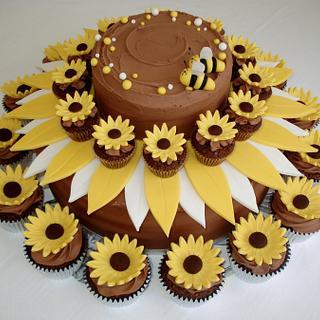 Sunflower in Chocolate Ganache