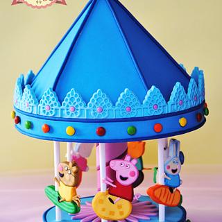 PEPPA PIG'S CAROUSEL CAKE TOPPER