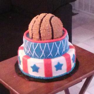 Basketball Cake - Cake by Sharon Cooper