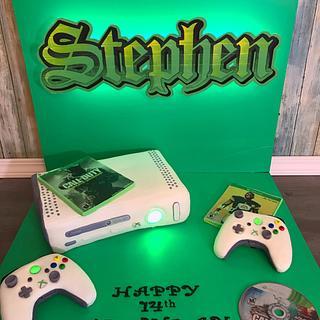 Xbox gamer cake
