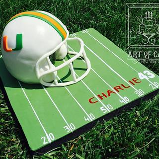 University of Miami Football Team Cake