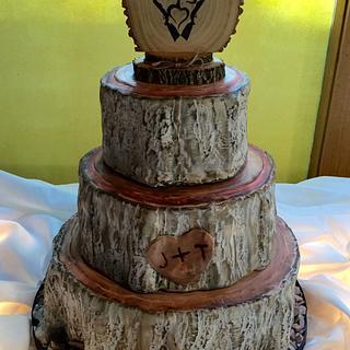 Tree Stumps Wedding Cake
