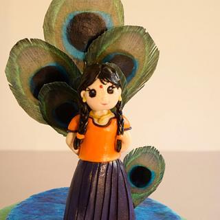 South Indian Girl in traditional 'Pattupavadai' dress