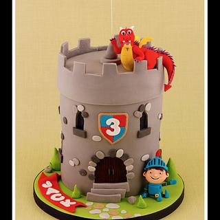 Mike the Knight Cake - Cake by Little Cherry