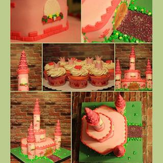 Pink Princess castle - Cake by Teresa Frye