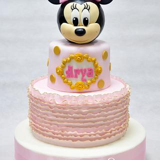 Shabby Chic Minnie Mouse Cake - Cake by Sweet Success