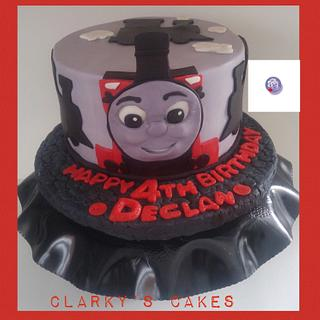 """Icing Smiles Birthday Cake - Cake by June (""""Clarky's Cakes"""")"""