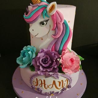 Unicorn birthday cake - Cake by sag