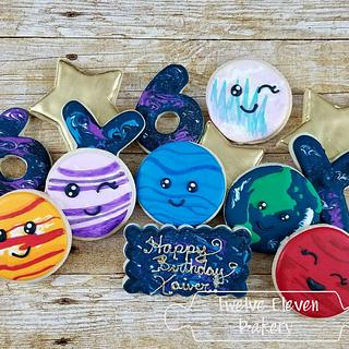 Galaxy Cookies - Cake by Shannon @ Kitchen Witch Chronicles