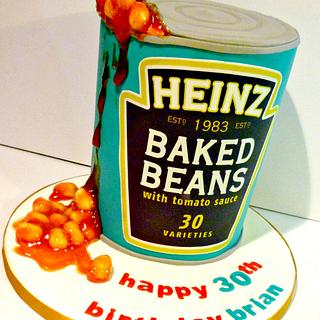 Baked Beans tin cake - Cake by Liana @ Star Bakery