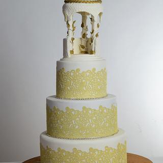 Gazebo romantic wedding cake!!