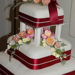 Seb and Rozsa's wedding cake - Cake by Adrian