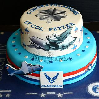 Air Force Promotion  - Cake by G Sweets