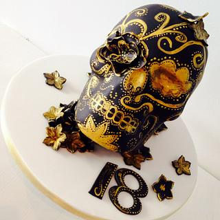 Black & Gold Skull