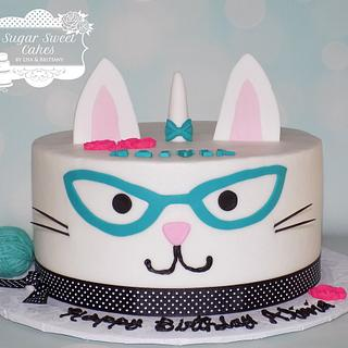 Cat's Meow - Cake by Sugar Sweet Cakes