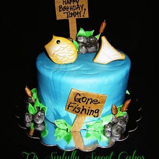 Gone Fishing Cake - Cake by Tyla Mann
