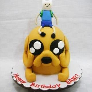 Jake the Dog and Finn the Human Cake