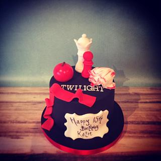 Twilight themed birthday cake