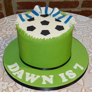 Pinata football cake - Cake by Angel Cake Design
