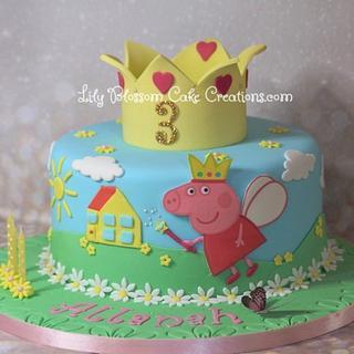 Peppa Pig Fairy Cake - Cake by Lily Blossom Cake Creations