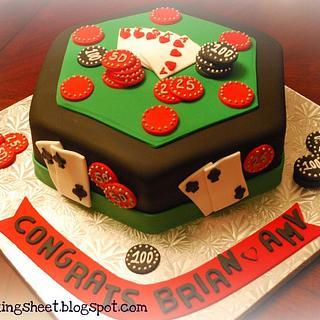 Poker Table Cake!